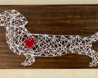 Dachshund Weiner Dog String Art