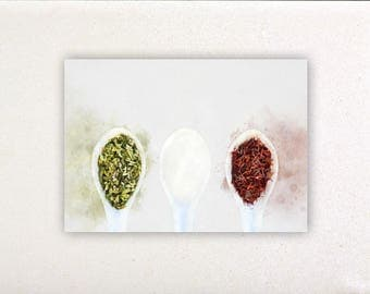 Teaspoons - Watercolor prints, watercolor posters, kitchen decor, kitchen wall art, wall decor, wall prints | Tropparoba - 100% made Italy