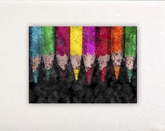 Pencils - Watercolor prints, watercolor posters, nursery decor, nursery wall art, wall decor, wall prints | Tropparoba 100% made in Italy