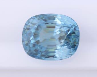 12.81 ct Blue Zircon, Oval Cushion Cut Natural Blue Zircon, Loose Blue Zircon, Natural Loose Gemstone, Oval Loose Zircon, Quality Gemstone