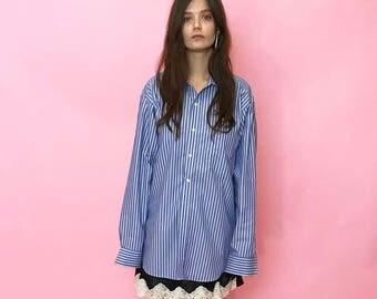 Oversized striped menswear shirt