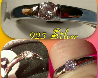 SILVER 925 Engagement Ring