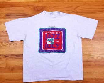 Vintage 90s 1991 Colorado Jazz in July Hummingbird Breckenridge T shirt Size Large L