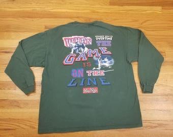 Vintage 90s NFL Football Long Sleeve Green T Shirt Size XL