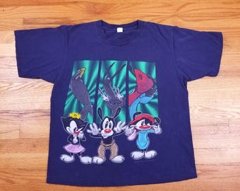 Vintage 90s 1995 Animaniacs T Shirt size Large