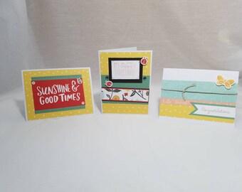Happy Bugs & Sunshine Greeting Card Set