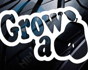 Grow a Pair Vinyl Decal Sticker (car/truck laptop/netbook window yeti)