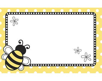 50 Gift  Tags, Florist Blank Enclosure Cards ,Small  Hang Tags Crafts ,Bees