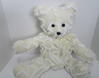 Handmade vintage chenille teddy bear- Lacey