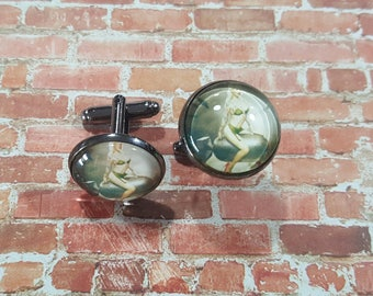 Pin-up Girl on a bomb Cufflinks