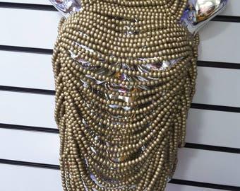 African Fashion statement bead shawl necklace -limited edition. Elegant