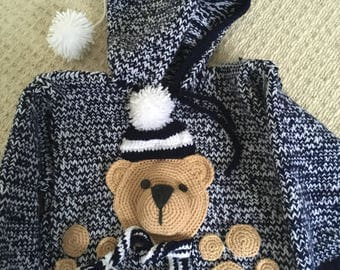 Baby boy teddy Winter jumper