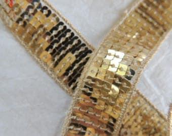 Glitter sequins Gold Ribbon