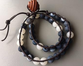 Humble Leather Double Wrap Bracelet