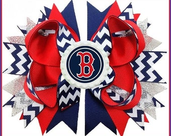 Boston Red Sox Boutique Hair Bow