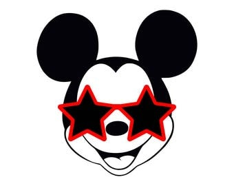 Mickey Mouse Sunglasses Star svg disney svg cricut silhouette vector cut file png dxf eps