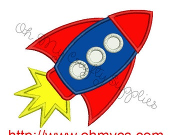 Rocket Applique Embroidery Design