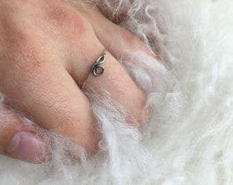 simple wrapped wire ring