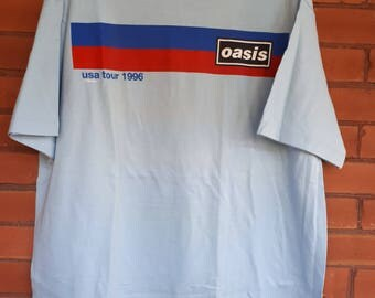 Deadstock Vintage 1996 Oasis tour shirt size XL unworn lush ride stone roses 90's 80's alternative grunge english rock tour band concert tee