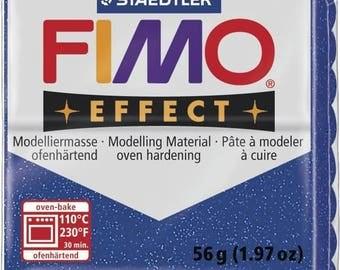 Clay Fimo 57 g blue 8020.302 - polymer clay glitter Effect