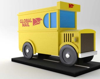 Vintage Mail Van - Mailbox and Garden Decoration