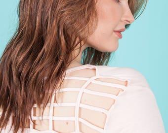 Criss cross back T shirt
