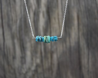 Circle and square necklace