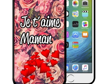 """Shell iPhone and Samsung Galaxy """"I you love"""" love MOM case cover Bumper new in Blister"""