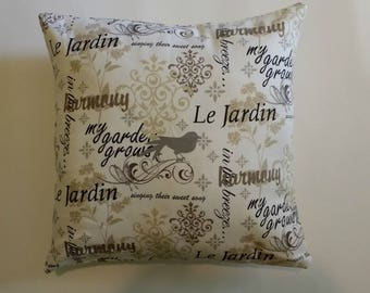 Le Jardin Pillowcase, 16 x 16 inch, cotton
