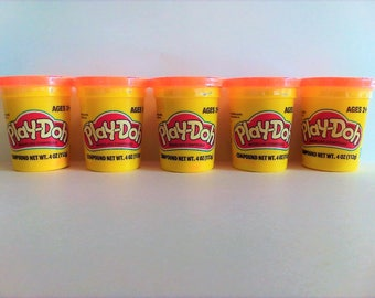 5 Set Neon Orange Play-Doh Modeling Compound Playdoh 3 oz New Sealed Craft Supplies Supply Lot