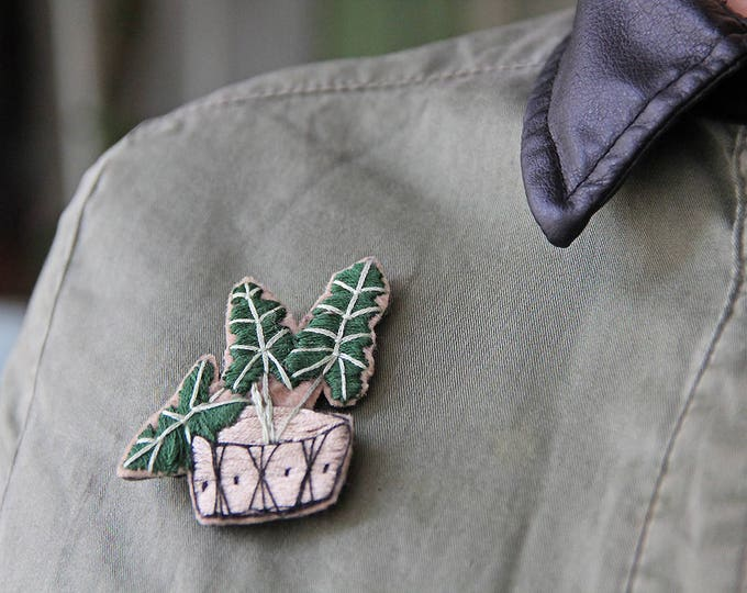 Brooch Cactus Pin Succulent Party Summer Outdoors Jewelry Botanical Cactus Lover Gift Nature Inspired Pin Embroidery Brooch Succulent Pin
