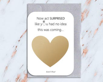 Bridesmaid Proposal Card | Scratch To Reveal | Act Surprised | Will You Be My Bridesmaid? | Card For Bridesmaid | Maid of Honour | Honor