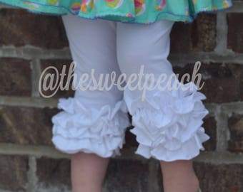 Cotton white Icing Capris by TSP