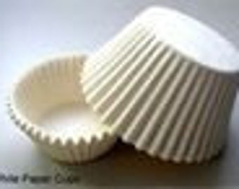 1000 ct White Greaseproof Cupcake Liners size 2x1-3/8