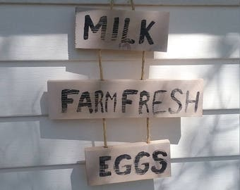 Farm Fresh Hand Painted Sign