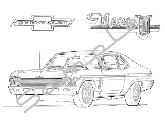 1970 CHEVY NOVA Adult Coloring