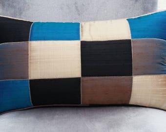 KISSmet No.. 2, elegant hand-woven Indian dupioni silk pillows