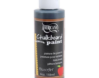Americana Black Blackboard Chalkboard Paint 118ml (4oz) - DS90