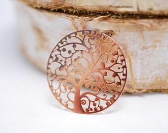 Einlegeplättchen ~ tree of life ~ Rosé gold