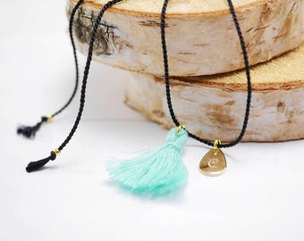 Anklets with engraving ~ drop ~ silk ~ gold