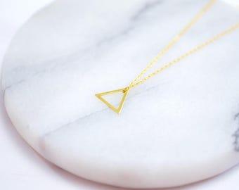 Chain ~ triangle ~ 925 Silver ~ Gold