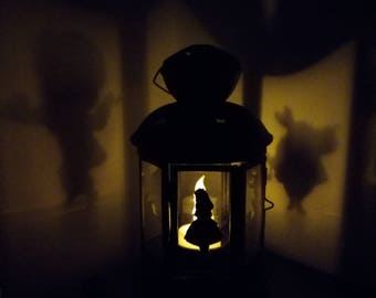 Alice in wonderland inspired lantern
