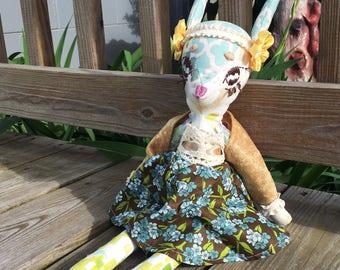 Deer Creature/ Handmade Doll/ OOAK Plush