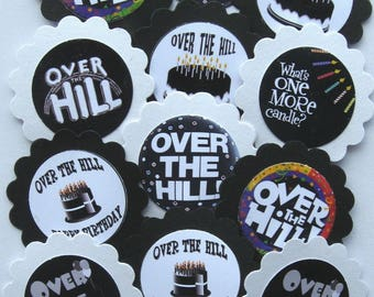 Over The Hill Birthday Cupcake Toppers/Party Picks #323