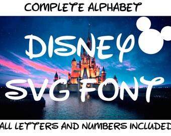 Disney Font SVG | Walt Disney Font SVG | Disney World Font SVG | Disney Alphabet svg | Disney svg | Disney cut file | Silhouette Cricut