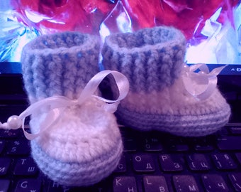 Girls 'Shoes, Boys' Shoes, Handmade baby booties, boots, slippers, boots, baby's shoes, baby slippers,