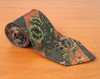 Vintage DAKS Mens Silk Necktie Casual Suit Neck Tie 080