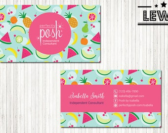 PERSONALIZED Perfectly Posh Business Cards, Perfectly Posh Style Card, Printable Digital Printed, Personalized Cards PH06