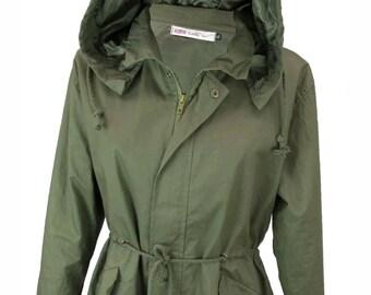 COOL womens summer fashion parker green coat duffle hood jacket, anorak jacket, hoody parker fashion wear