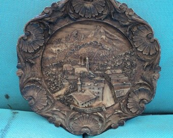 German Wood Carving-Wall Plate